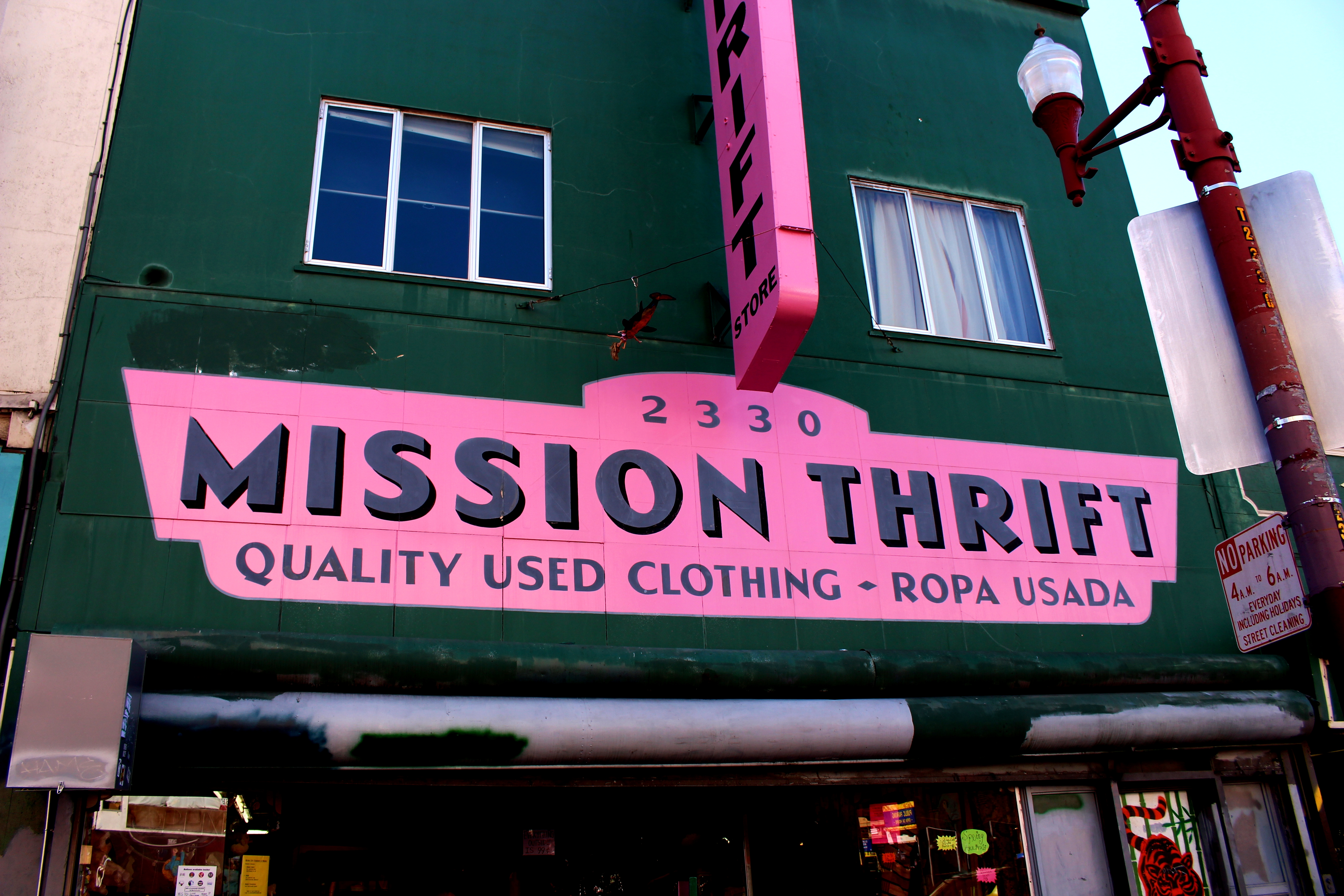 The storefront of Mission Thrift. Credit: Fiona Belk / M-A Chronicle.