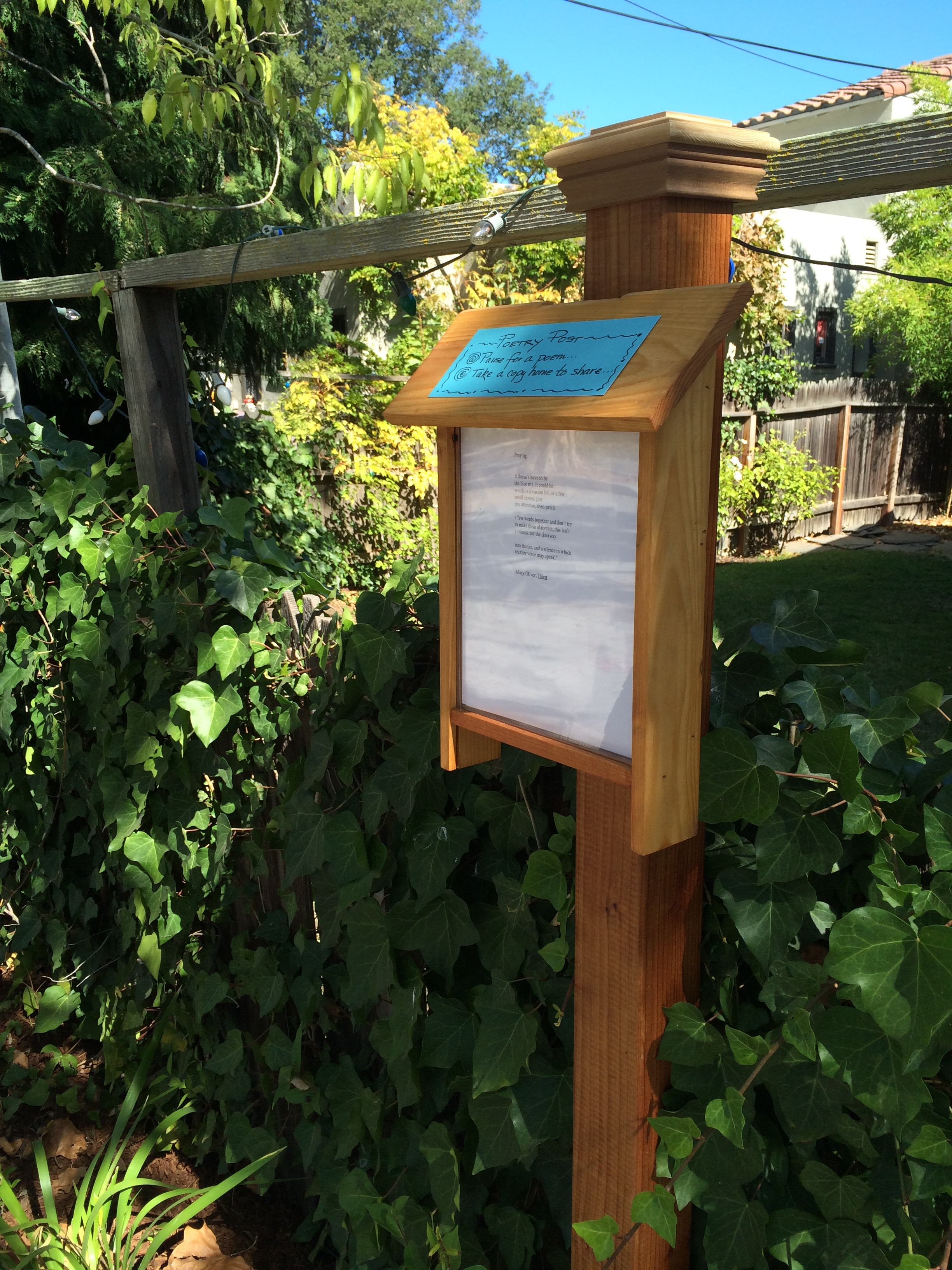 "Palo Alto ""Poetry Post"" Attempts to Lighten the Hearts of the Community"
