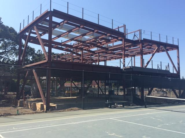 Recent Construction Displaces Tennis Team