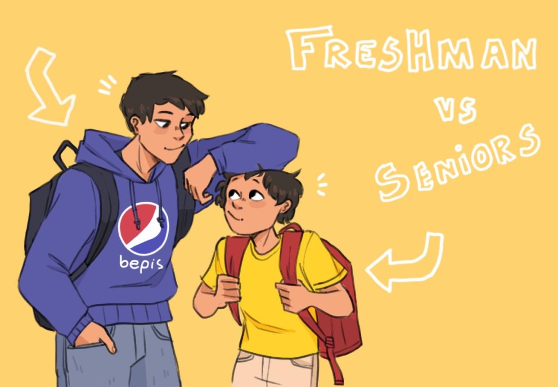 Freshmen vs. Seniors comic