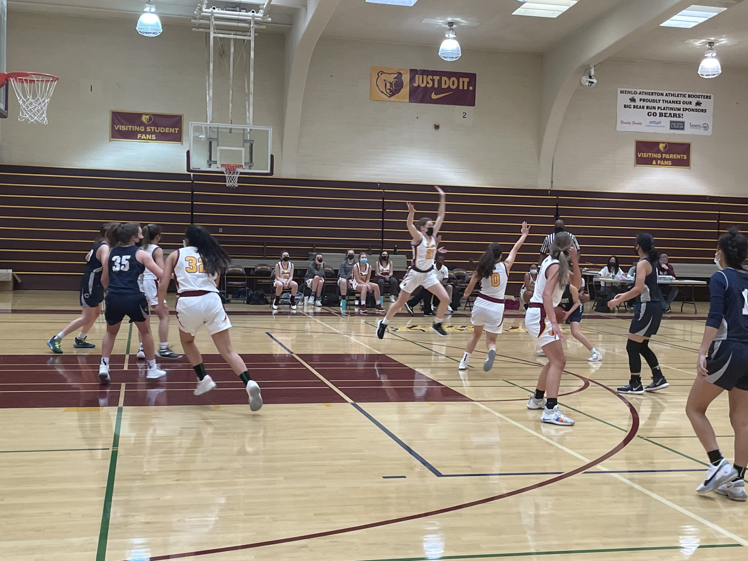 Girl's Varsity Basketball Crushes Carlmont Scots Despite Tight First Half