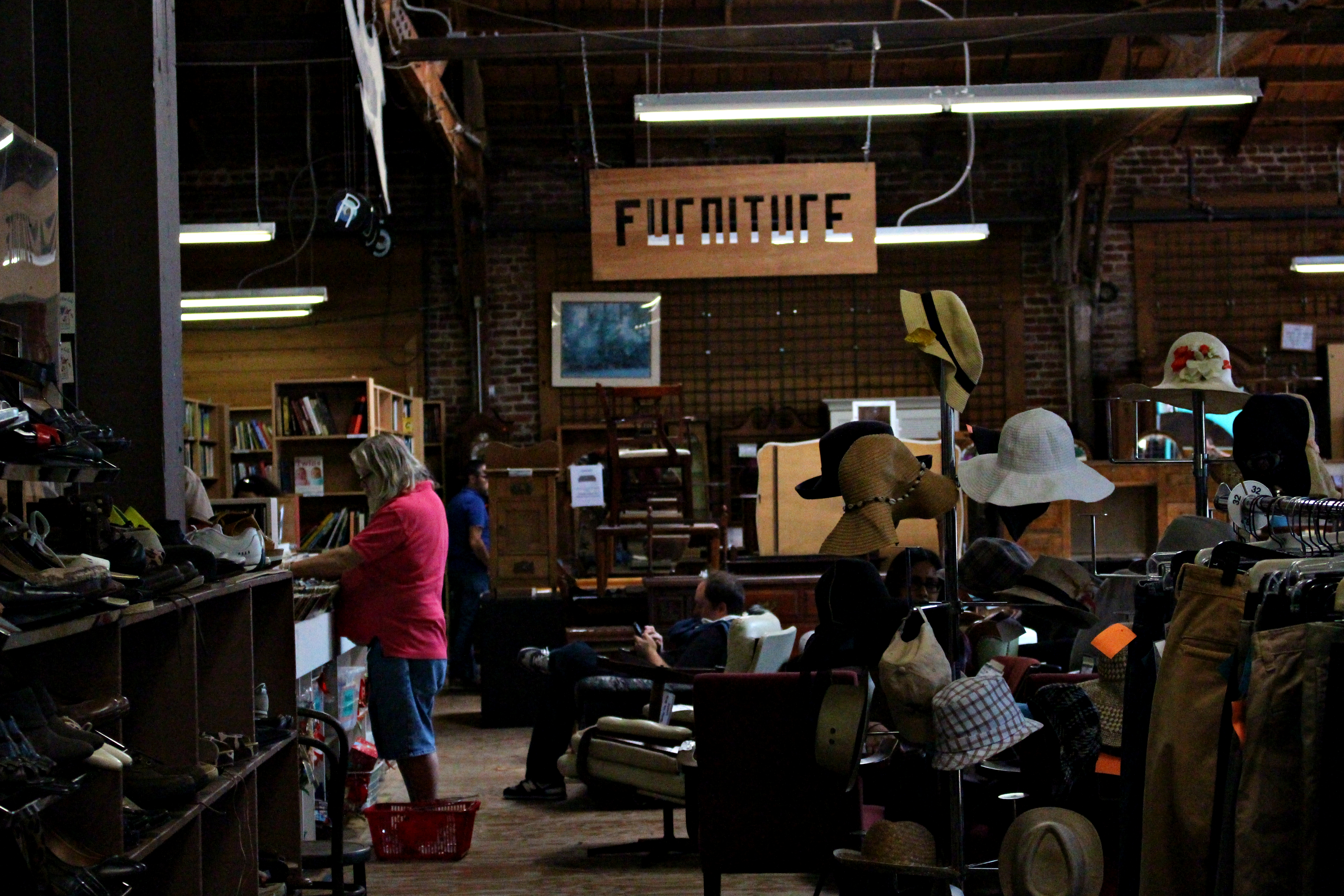 The store provides a furniture section. Credit: Fiona Belk / M-A Chronicle.