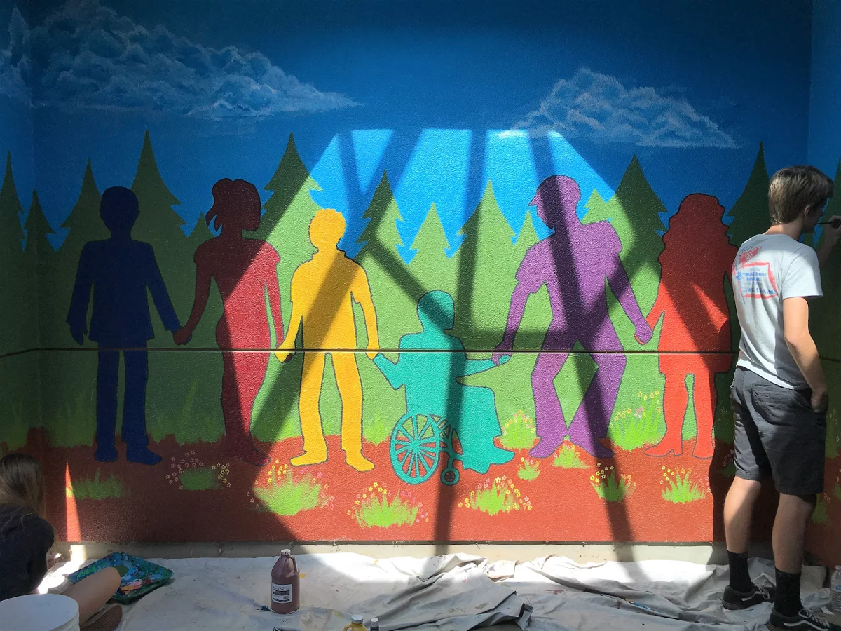 """Strength in Diversity, Unity in Service"": M-A's Newest Mural"