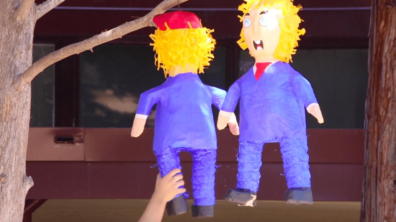 Opinion: Trump piñata undermines sincerity of protests