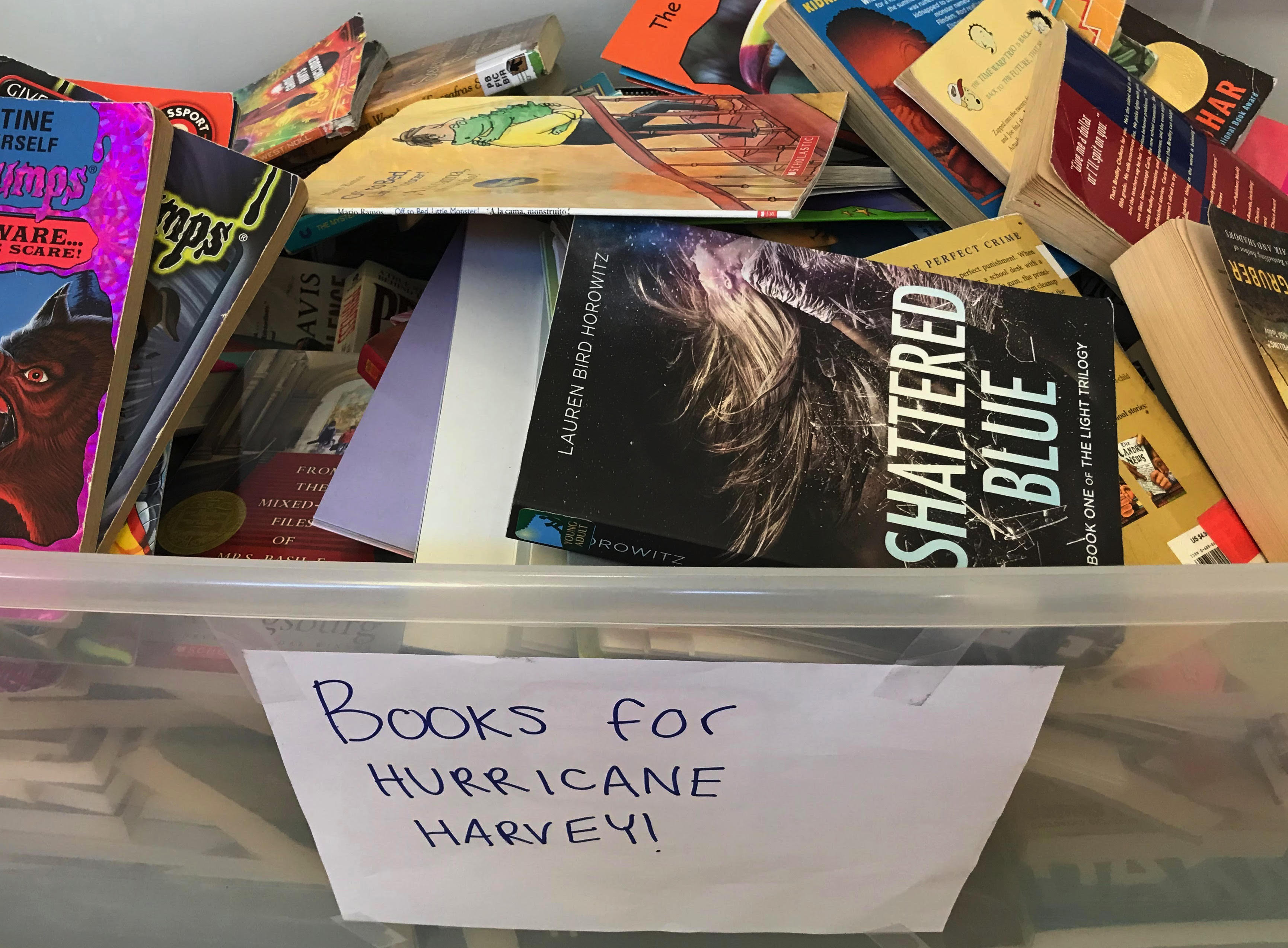 M-A student successfully leads Hurricane Harvey book drive