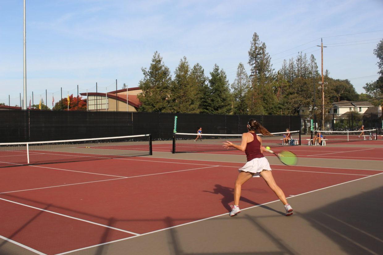 Girls Tennis Defeats Los Altos at CCS Match