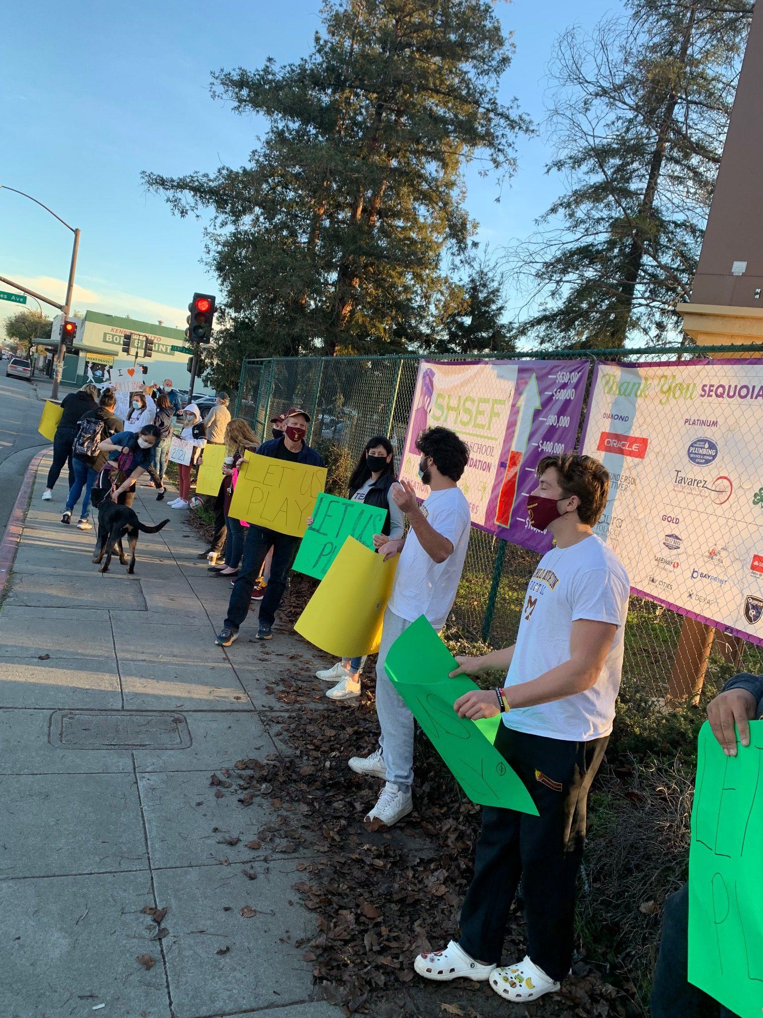 Let Them Play Protest at Sequoia HS Joins 100 Across State